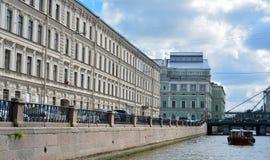 Rosja, St Petersburg lata czasu sceniczny widok fotografia royalty free