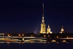 Rosja, St Petersburg, 06/20/2015: Peter i Paul forteca, hig Fotografia Stock