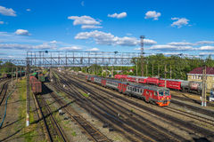 Rosja Stacja kolejowa blisko Arzamas 2 Obrazy Royalty Free