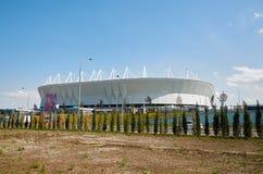Rosja Stadionu futbolowego ` arena blisko parkowy ` Levoberezhny ` Lipiec 01, 2018 Zdjęcie Royalty Free