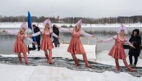 Rosja, Uglich, Luty 07 Festiwal Zdjęcia Stock