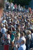 Rosja, Ulyanovsk, Lipa 9, 2018 wiec przeciw podnosić podatki i wieka emerytalnego zdjęcia royalty free