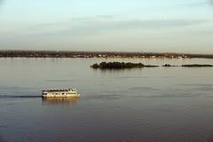Rosja Volga rzeka 25 05 2016 zdjęcia stock