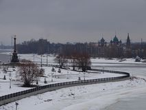Rosja Wycieczka Środkowy Rosja Zima yaroslavl Fotografia Royalty Free