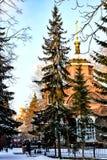 Rosja yekaterinburg Sławni ikonowi miejsca w mieście Zimy miasta krajobraz zdjęcia royalty free
