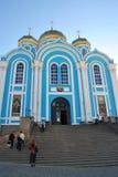 Rosja, Zadonsk, Sierpień 25 2017 Chrześcijański monaster dla mężczyzna Ortodoksalnej męskiej świątyni Obraz Royalty Free