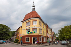 ROSJA, ZELENOGRADSK - WRZESIEŃ 03, 2016: Stary niemiec dom w Zelenogradsk &-x28; Cranz&-x29; Obrazy Stock