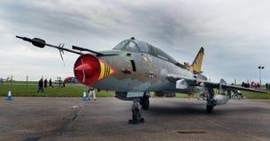 Rosjanin budował Sukhoi Su-22 instalatora zmiennej geometrii huśtawkowego skrzydła samolot Obraz Royalty Free