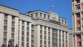 Rosjanin flaga nad rosjanina organu ustawodawczego stanu duma moscow 4K wideo zbiory wideo