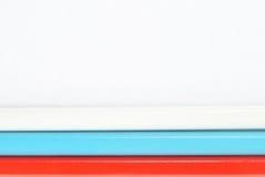 Rosjanin flaga robić z ołówków Obrazy Stock