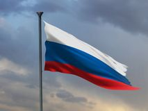 Rosjanin flaga, Rosja abstrakcjonistyczni kolory, 3D rendering royalty ilustracja