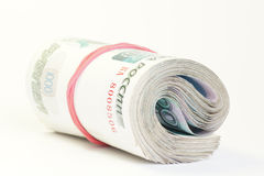 rosjanin gotówkowy rocznica pieniądze Zdjęcia Royalty Free
