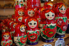rosjanin matroshka kolorowe lalki obrazy royalty free