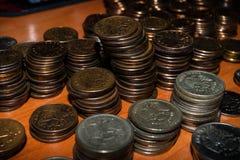 Rosjanin monety brogować na stole obraz royalty free