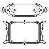 Rosjanin stylowa czarna ornamentacyjna dekoracyjna rama Zdjęcia Royalty Free