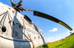 Rosjanina ci??ki przewieziony helikopter Mi-6 zdjęcia royalty free