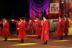 Rosjanina Kuban kozaczków parada Zdjęcia Royalty Free
