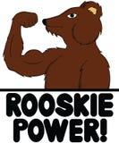 Rosjanina niedźwiedzia władza! Obrazy Stock