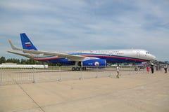 Rosjanina płaski latanie na traktacie na otwartych niebach Obraz Royalty Free