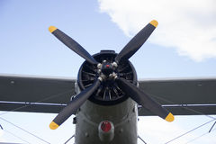 Rosjanina samolotu przewieziony śmigło Fotografia Stock
