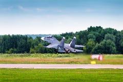 Rosjanina strajkowy wojownik Sukhoi Su-30 Zdjęcia Royalty Free
