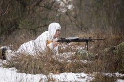Rosjanina szpieg w przyczajeniu Fotografia Royalty Free