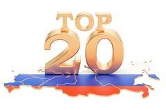 Rosjanina wierzchołka 20 pojęcie, 3D rendering Fotografia Stock