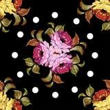 Rosjanina Zhostovo obraz, bezszwowy wzór royalty ilustracja