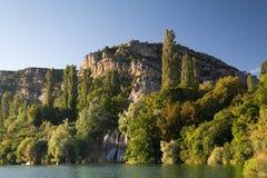 Roski瀑布在国家公园Krka 免版税库存照片