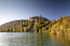 Roski瀑布在国家公园Krka 库存照片