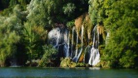 Roski siklawa przy Krka Nationalpark Chorwacja Europa fotografia royalty free