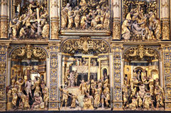 Roskilde cathedral. Gold altar in historical church (cathedral) in Roskilde, Denmark royalty free stock image