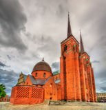 Roskilde Cathedral, a UNESCO Heritage Site in Denmark Royalty Free Stock Photos