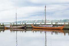 Roskilde warships outdoor museum Royalty Free Stock Photos