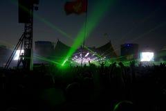 Roskilde festival. Consert at Roskilde festival, Denmark royalty free stock photography