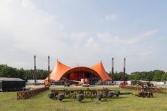 Roskilde festiwal 2016 - Pomarańczowa scena w budowie Zdjęcie Stock