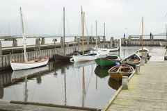 Roskilde warships outdoor museum Royalty Free Stock Photo