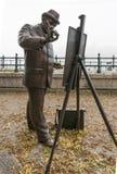 Roskovics-Statue eines Malers in Budapest, Ungarn Stockfotografie