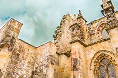 Roslin,英国- 2015年4月06日-罗斯格教堂侧视图 免版税图库摄影