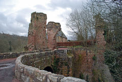 Roslinkasteel een de 14de eeuw Schots kasteel Stock Fotografie