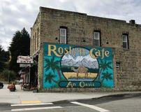 Roslyn kawiarnia uwypuklająca w Północnych ujawnienie serialach telewizyjnych zdjęcia royalty free