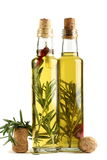 rosmarinar för peppar för vitlökolja olive Royaltyfri Foto