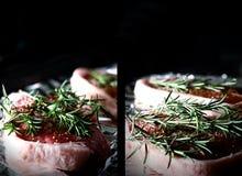 Rosmarini delle bistecche dell'agnello Fotografia Stock Libera da Diritti
