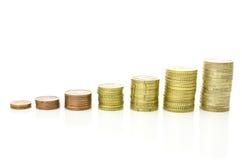 Rosnąć sterty monety Fotografia Royalty Free