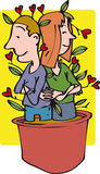 rosnąca miłości Obraz Royalty Free