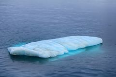 Rosnador típico (iceberg liso pequeno) nas águas do SE de Barents Fotografia de Stock