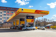 Rosneft加油站 Rosneft是一个最大的俄国油c 库存照片