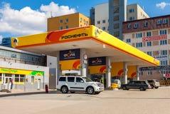 Rosneft加油站 Rosneft是一个最大的俄国油c 免版税库存图片