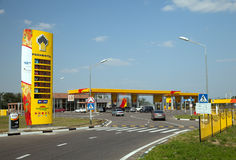 Rosneft gas station with cafe and shop Stock Photos