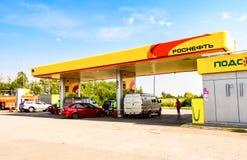 Rosneft-Tankstelle Stockbild